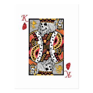Horror Skeleton King Playing Card