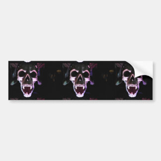 Horror Skull Bumper Sticker