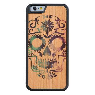 Horror Skull Symbol Carved Cherry iPhone 6 Bumper Case
