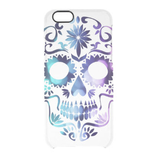 Horror Skull Symbol Clear iPhone 6/6S Case