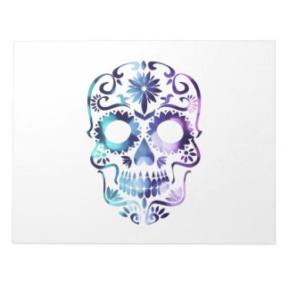 Horror Skull Symbol Notepad