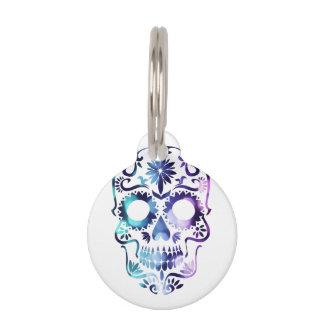 Horror Skull Symbol Pet Tag