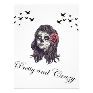 Horror Skull Women Custom Letterhead