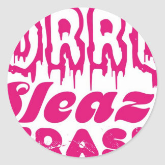 HORROR SLEAZE TRASH MERCH! ROUND STICKER