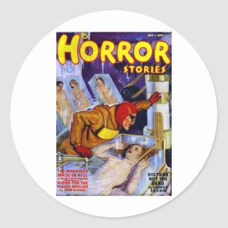 Horror Stories Round Sticker