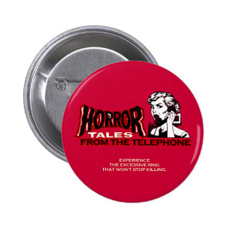 Horror Tales From The Telephone Retro Movie Ad 2 Inch Round Button