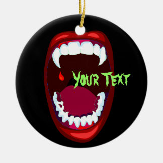 Horror Teeth Vampire Fangs Spooky Ornament