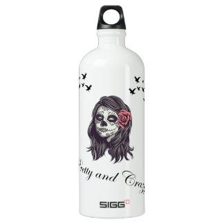 Horror Women Skull Water Bottle