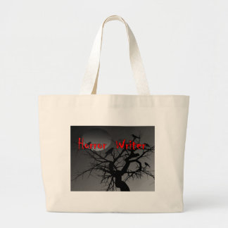 Horror Writer Red Letter Canvas Bags