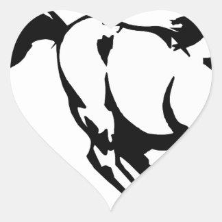 horse-1564370 heart sticker