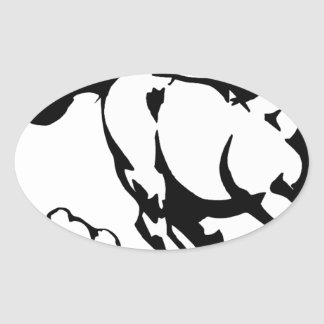 horse-1564370 oval sticker