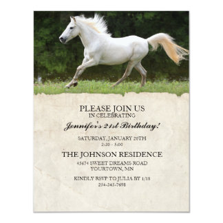 Horse 21st Birthday Party Invitation