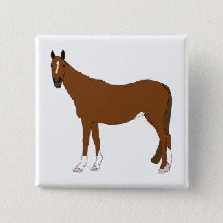 Horse 2 Inch Square Button