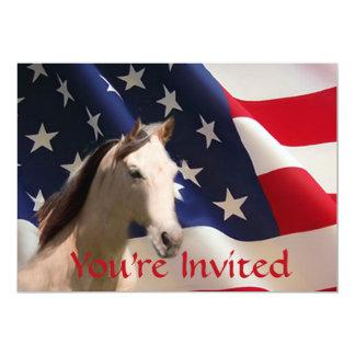Horse American Flag Invitation
