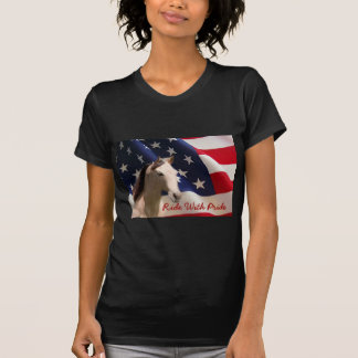 Horse American Flag Ladies T-Shirt