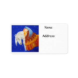 Horse and Angel Label