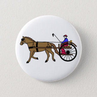 Horse and Buggy 2 Inch Round Button