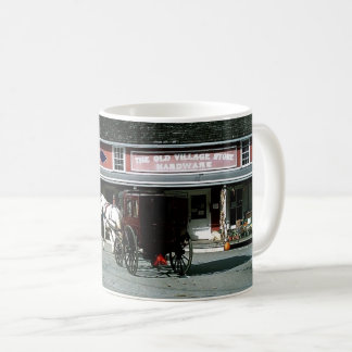 Horse and Buggy in Amish Community Coffee Mug