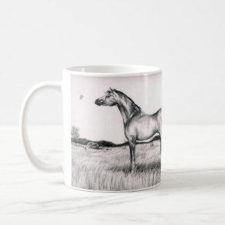 Horse and Butterfly Pencil Drawing Mug