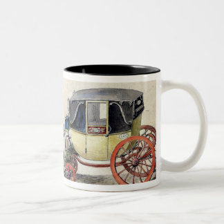Horse and Carriage, 1825 Two-Tone Coffee Mug