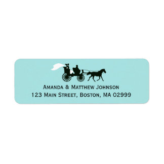 Horse and Carriage Fairytale Return Address Labels