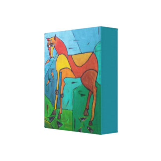 Horse and Carrots Canvas Print