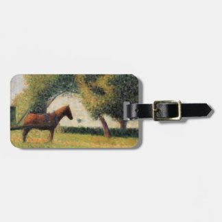 Horse and Cart by Georges Seurat Luggage Tag