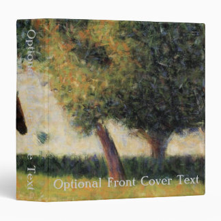 Horse and Cart by Georges Seurat Vinyl Binder