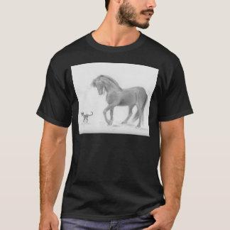 horse-and-cat-friends-pencil-art-gunilla-wachtel-1 T-Shirt