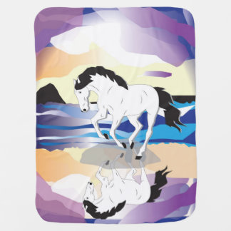 Horse and Clouds Baby Blanket