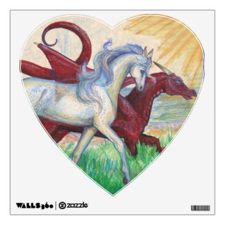 Horse and Dragon Heart Decal