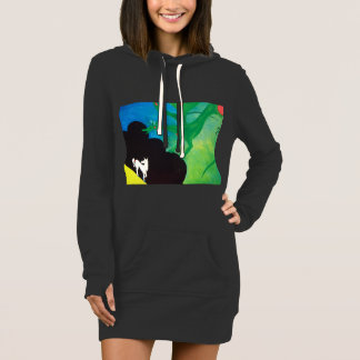 horse and dragon long dress hoodie