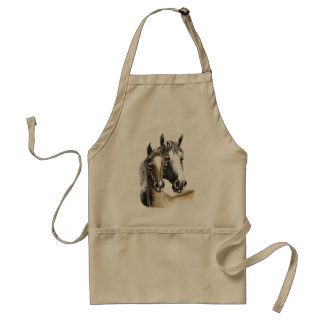 horse and foal apron