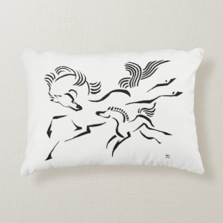Horse and Foal Decorative Pillow