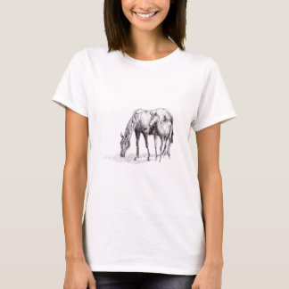 Horse and Foal Pen Drawing T-Shirt