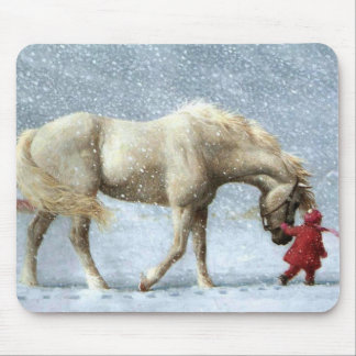Horse and Girl Mousepad