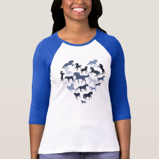 Horse and Heart Tshirt- Blue T-Shirt