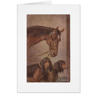 Horse and Hounds Card