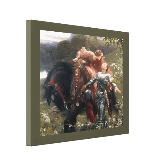Horse And Lovers - Wrapped Canvas