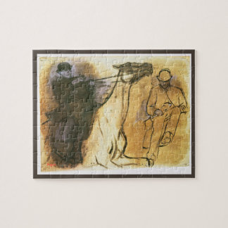 Horse and Rider by Edgar Degas, Vintage Study Art Jigsaw Puzzle