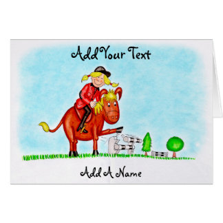 Horse and Rider Drawing Card