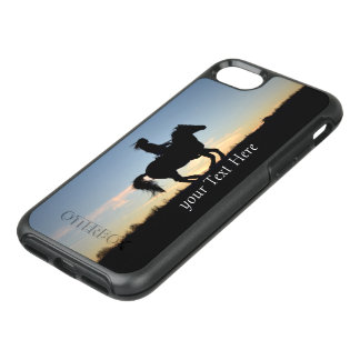 Horse and Rider Silhouette Personalized OtterBox Symmetry iPhone 8/7 Case
