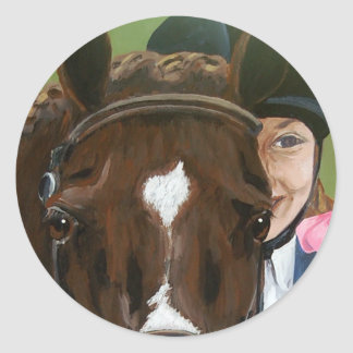 Horse and Rider Sticker