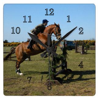 Horse And Rider Wall Clocks