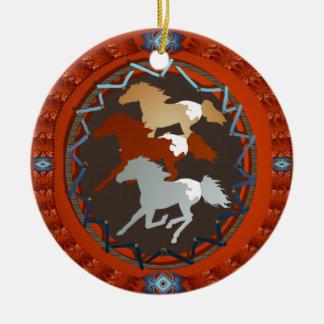 Horse and Shield-Ornaments Ceramic Ornament