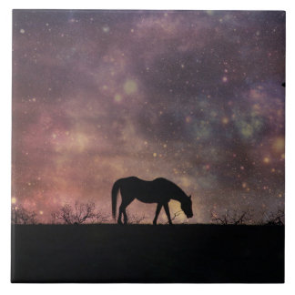 Horse and Universe Tile