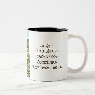 Horse Angel Two-Tone Coffee Mug