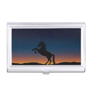 Horse Animal Nature Business Card Holder