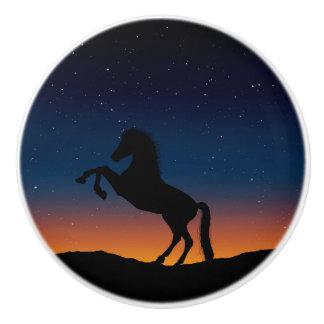 Horse Animal Nature Ceramic Knob