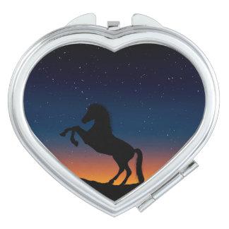 Horse Animal Nature Makeup Mirrors